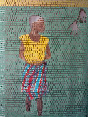 La ramasseuse des mains coupés | 2014 | Aimé Mpane Enkobo (cortesia do artista)