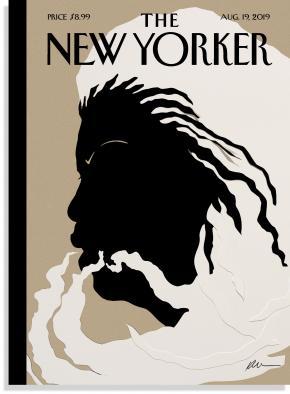 Ilustração da Kara Walker aquando da morte da Toni Morrison.