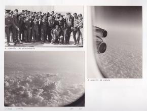 À partida do aeroporto, a caminho de Luanda, Lisboa - Luanda, setembro 1972.