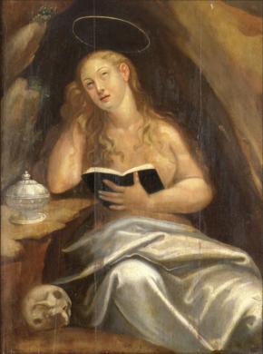 Santa Maria Madalena, óleo sobre madeira, sec. XVII, autor desconhecido. Museu de Angra do Heroísmo