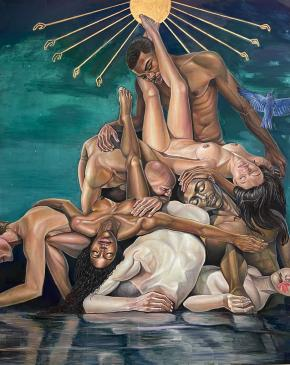 Lanise Howard. Age of Aquarius , 2020. Ross-Sutton Gallery