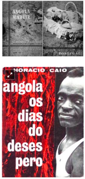 Capas de livros editados logo após os massacres e contramassacres no Norte de Angola, em 1961.