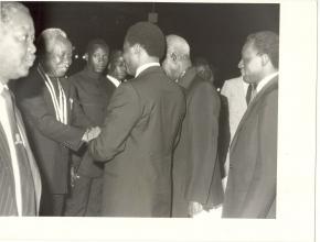 visita do presidente Julius Nyerere (Tanzânia) a Angola, 1980