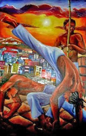 capoeira, pintura de Dudu Rodrigues.
