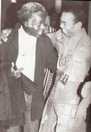 Carlos Moore com o ícone musical Fela Kuti