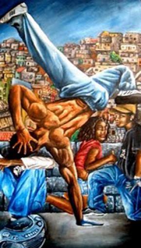 dancers b-boys, pintura de Dudu Rodrigues.