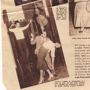 ensaio da peça 'Orfeu da Conceição' 1956