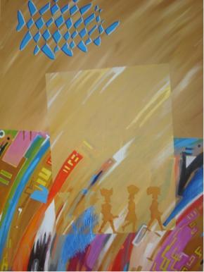 Heroínas II (Nossas Zungueiras de Todos os Dias), acrílico s/ tela, 140 x  100 cm, 2010