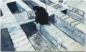 Marlene Dumas, The Mother, 2009 óleo sobre tela, 180 x 300 cm