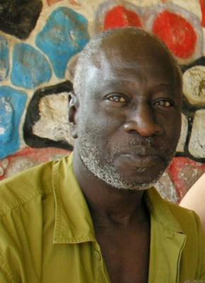 Samba Félix Ndiaye em 2007, ilha de Ngor, fotografia de Olivier Barlet