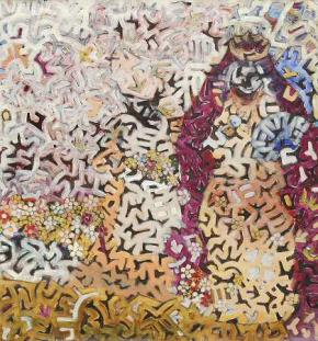 Rainha e Dama do Chiloli, 2011, acryl op doek, 150 x 140 cm. (foto SBK Amsterdam / Rob Moorees)