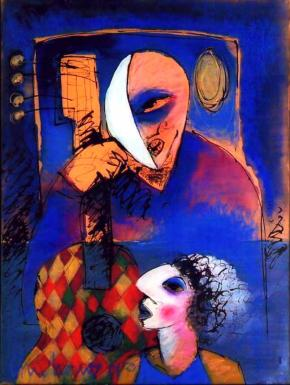 seresteiro, pintura de Roberto Chichorro