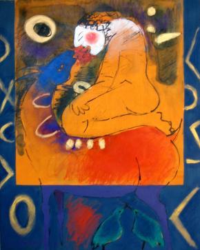 namoro, pintura de Roberto Chichorro
