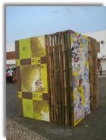 Yon Gato artístico - intervenção de arte pública em S.Tomé